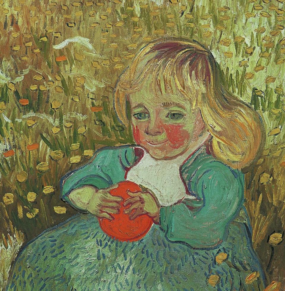 Enfant avec une orange par Vincent van Gogh, Petites Filles, Klaus H. Carl