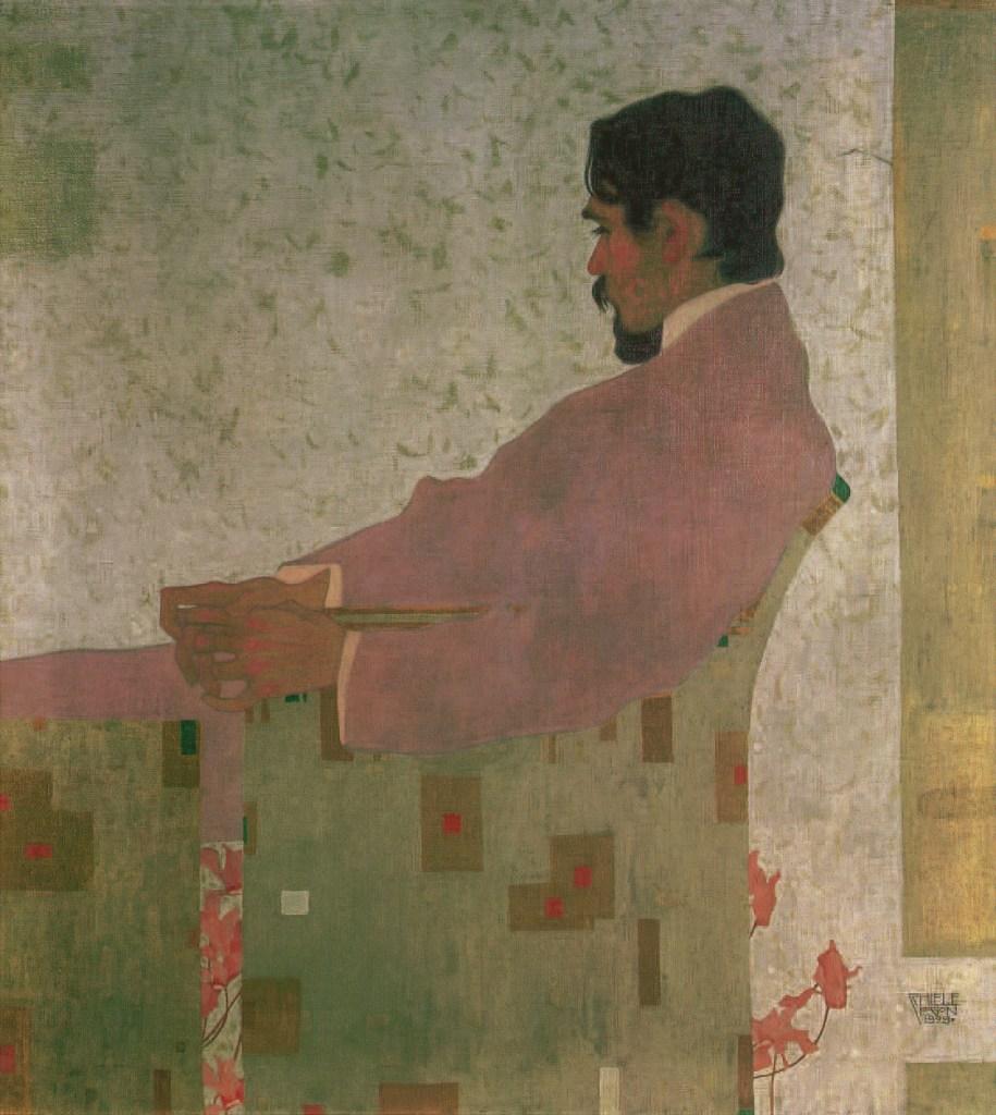 PORTRAIT OF THE PAINTER ANTON PESCHKA, 1909, Egon Schiele