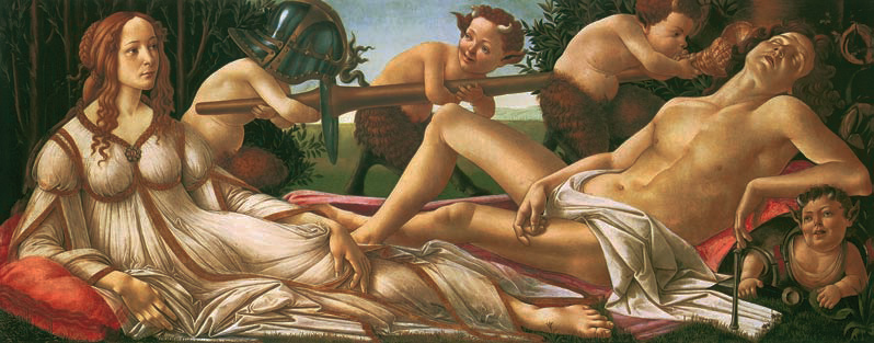 Venus and Mars, Sandro Botticelli, c. 1485, Love, Jp. A. Calosse