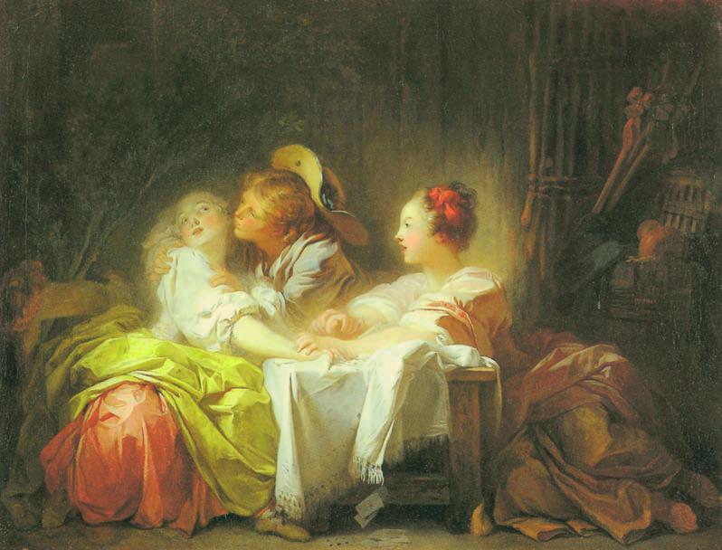 L'Enjeu perdu, Jean-Honoré Fragonard, 1759-1761, L'amour, Love, Jp. A. Calosse