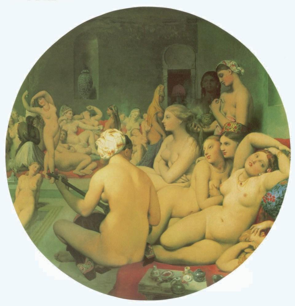 Jean Auguste Dominique Ingres, Le Bain turc, 1862, L'Homosexualité dans l'Art, James Smalls