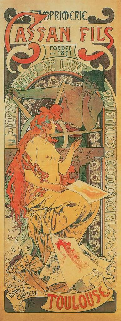 Druckerei Cassan Fils, 1896, Alfons Mucha, Patrick Bade, Victoria Charles