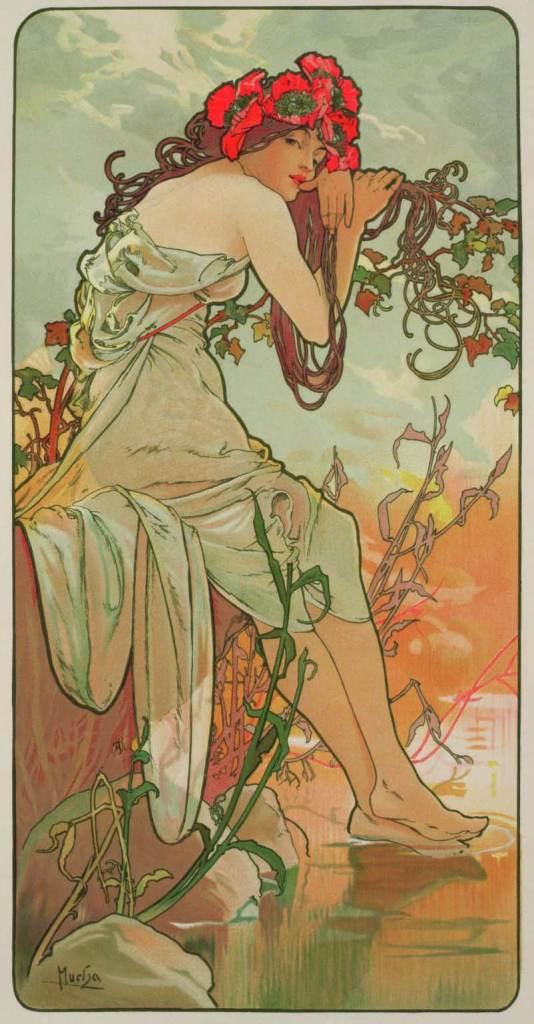 Sommer, aus der Serie Jahreszeiten, 1896, Alfons Mucha, Patrick Bade, Victoria Charles