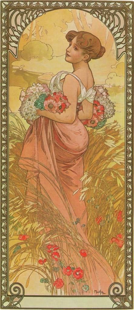 The Seasons: Summer, 1900, Alphonse Mucha, Patrick Bade, Victoria Charles