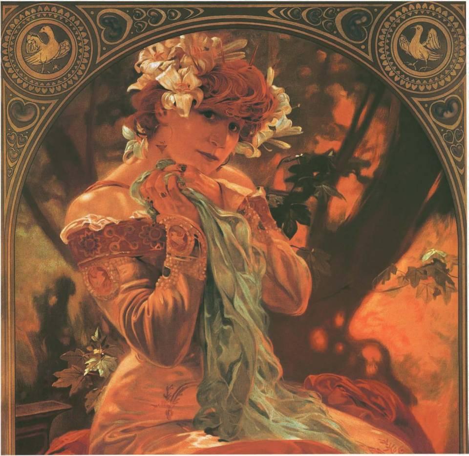 Sarah Bernhardt, Lefèvre-Utile, 1903, Alphonse Mucha, Patrick Bade, Victoria Charles