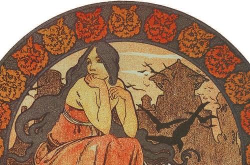 Folio extrait de Ilsée, princesse de Tripoli (détail), 1897.