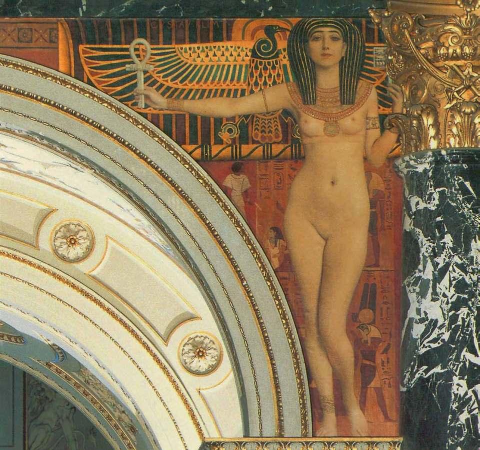 Egyptian Art I (Young Girl with Horus), 1890-1891, Gustav Klimt, Jane Rogoyska, Patrick Bade