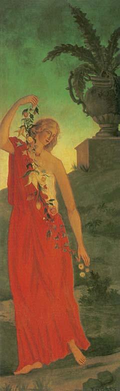 Die Vier Jahreszeiten, der Frühling (Detail), 1859-1860, Die Nabis, Albert Kostenevitch