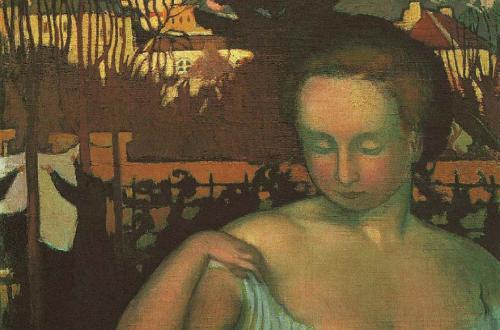 Maurice Denis, Portrait de Marthe Denis, la femme de l'artiste (Suzanne aux maisons jaunes), 1893