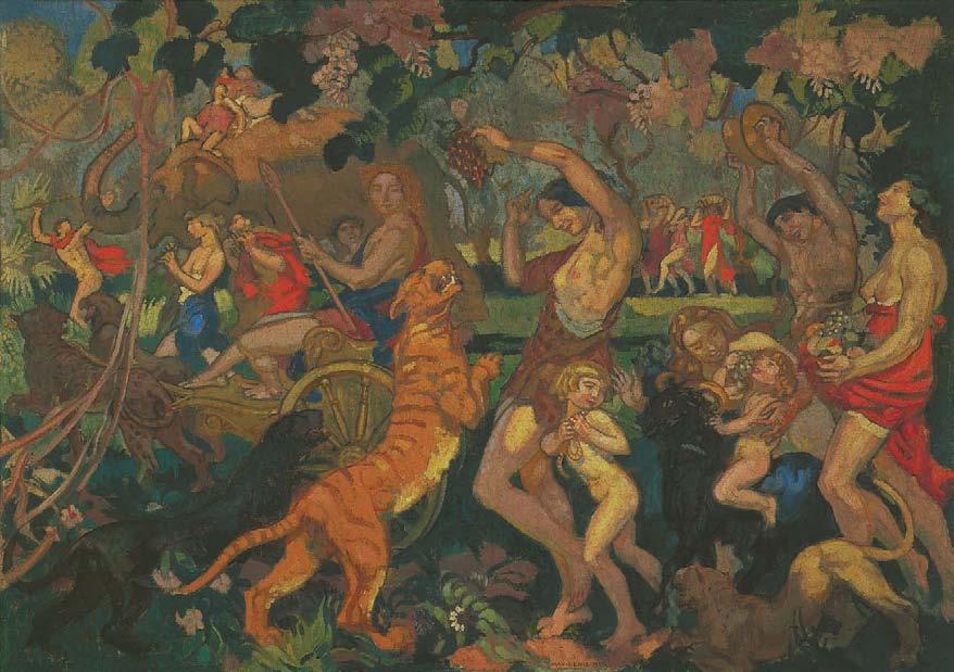 Bacchanalia, 1920, The Nabis, Albert Kostenevitch