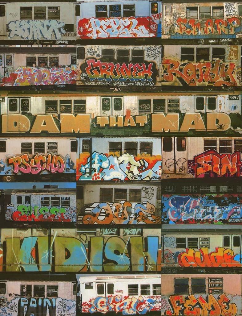 Various artists. Aerosol paint on subway cars, American Graffiti, Margo Thompson