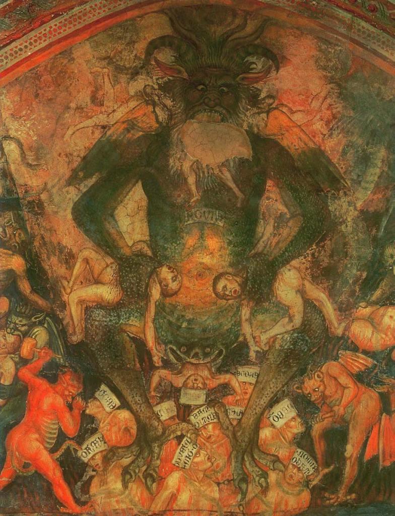 Die Hölle, zwischen 1393 und 1413, Satan, Beelzebub, Luzifer - Der Teufel in der Kunst, Arturo Graf