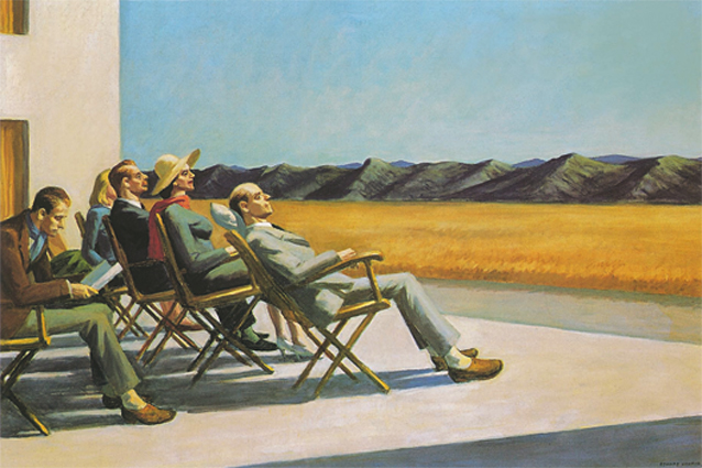 Edward Hopper, People in the Sun (Menschen in der Sonne), 1960