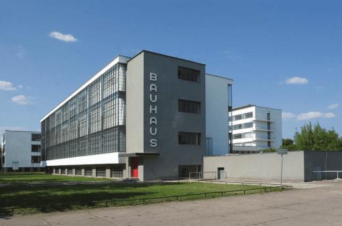 Walter Gropius, Bauhaus Dessau building, south-west view