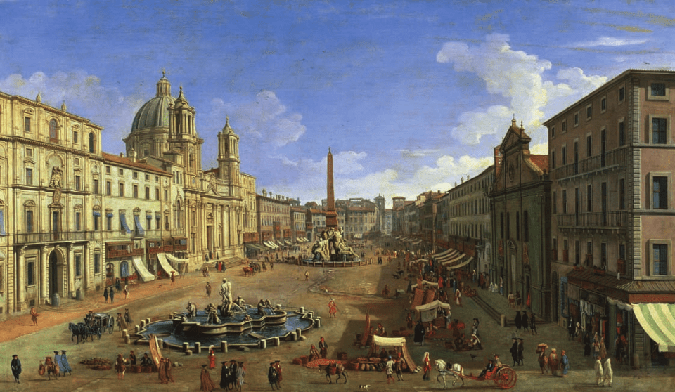 View of the Piazza Navona, Rome, Canaletto, Octave Uzanne