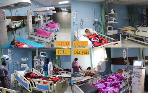 ICU, CCU, HDU, SCBU, NICU, PICU, Dialysis Unit