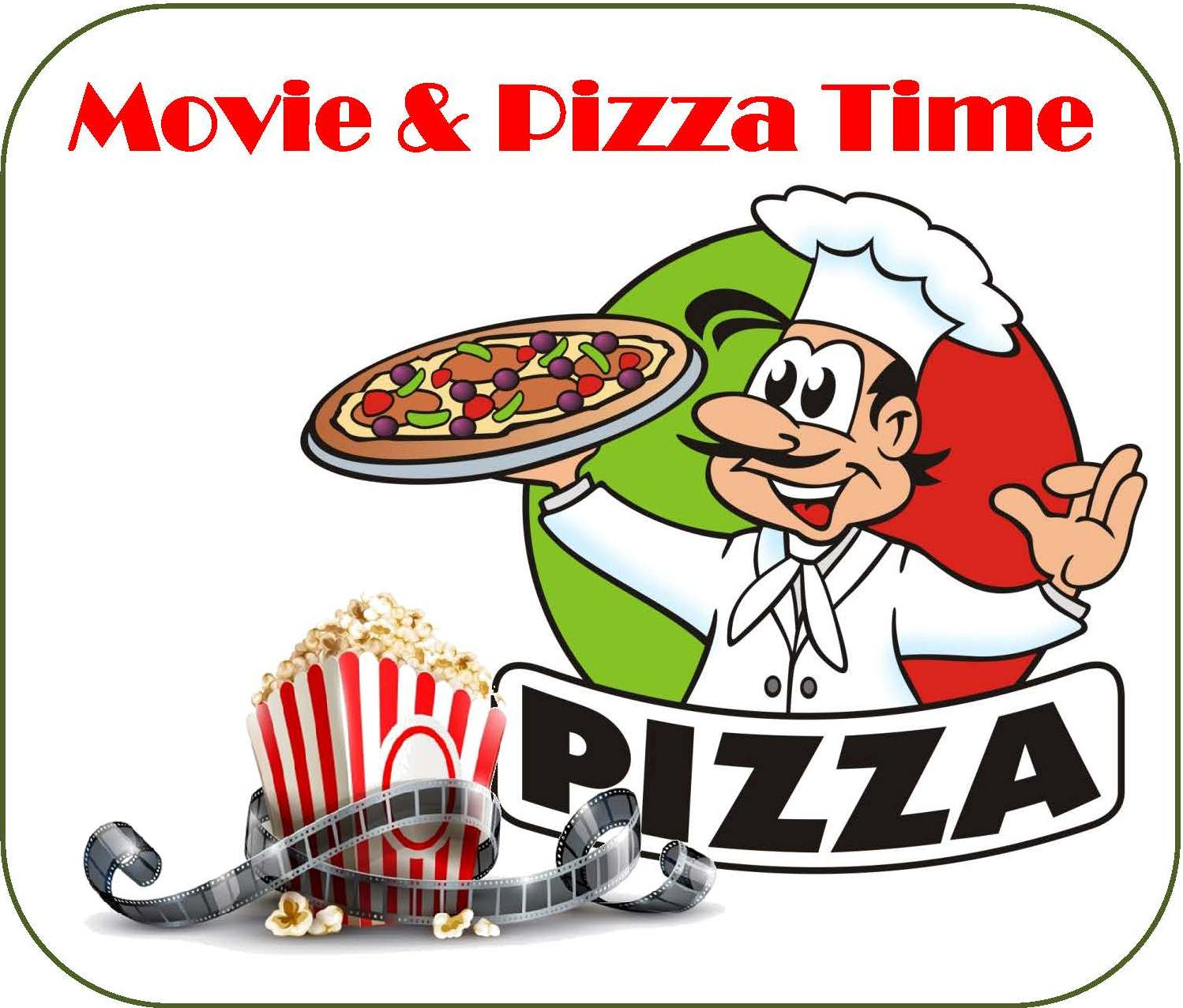 hight resolution of free movie and pizza night