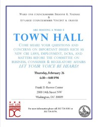 hall town meeting dcra meetings committee focusing abra thursday program business before parkviewdc