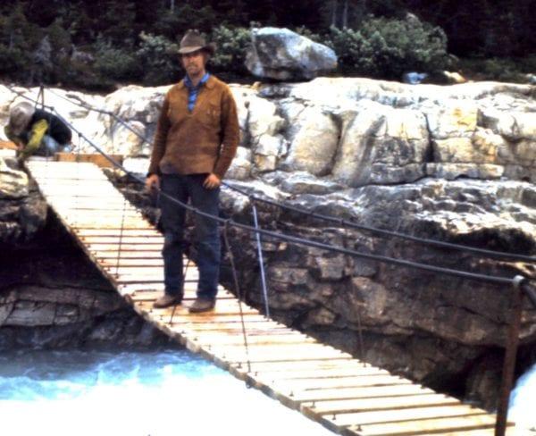 Don on trail bridge at Twin Falls