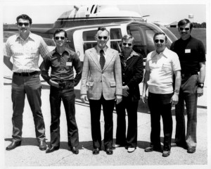 Garry Forman and the Yellowhead Helicopters' crew 1970s