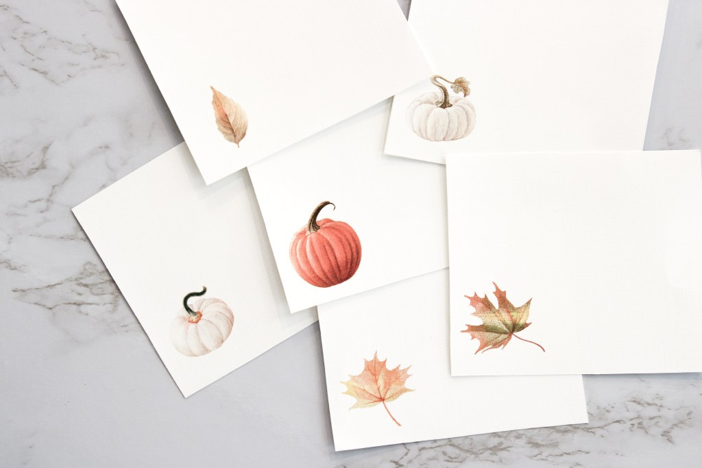 Picture of Autumn Buffet Card Printables