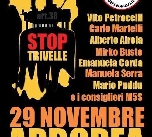 A Arborea per dire #StopTrivelle, 29/11/2014