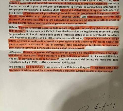 """Aeroporto di Firenze: la """"manina"""" sistema la faccenda nottetempo"""
