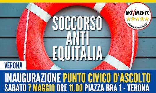 In arrivo anche a Verona il Punto di Soccorso anti-Equitalia del M5S