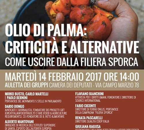 Olio di palma: Criticità e Alternative – Come uscire dalla filiera sporca | Convegno M5S