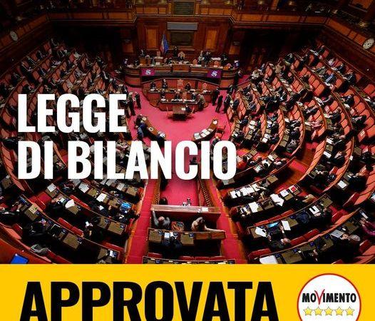 Legge di bilancio approvata