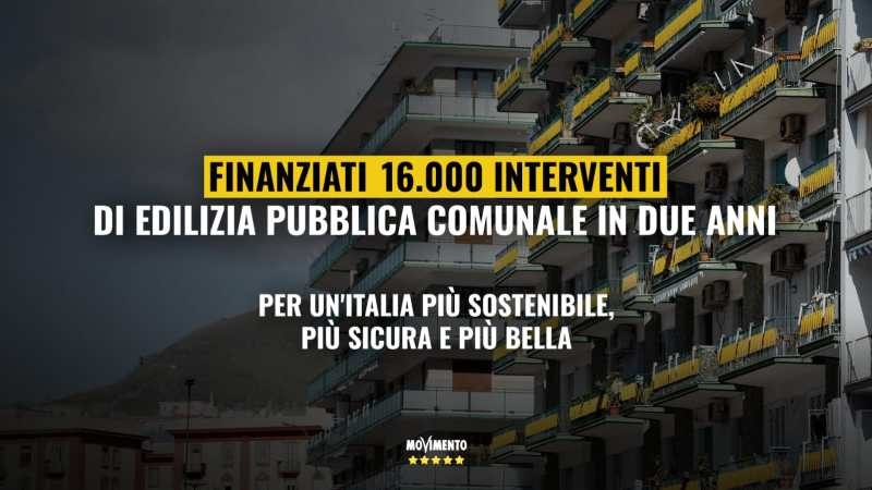 Finanziati 16 mila interventi di edilizia pubblica comunale in due anni. Per un'Italia più sostenibile, più sicura e più bella