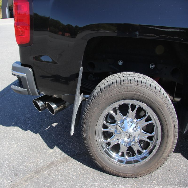 mbrp installer series 4 dpf back dual outlet single side exhaust for 2011 2019 chevy gmc 6 6l duramax s6033al