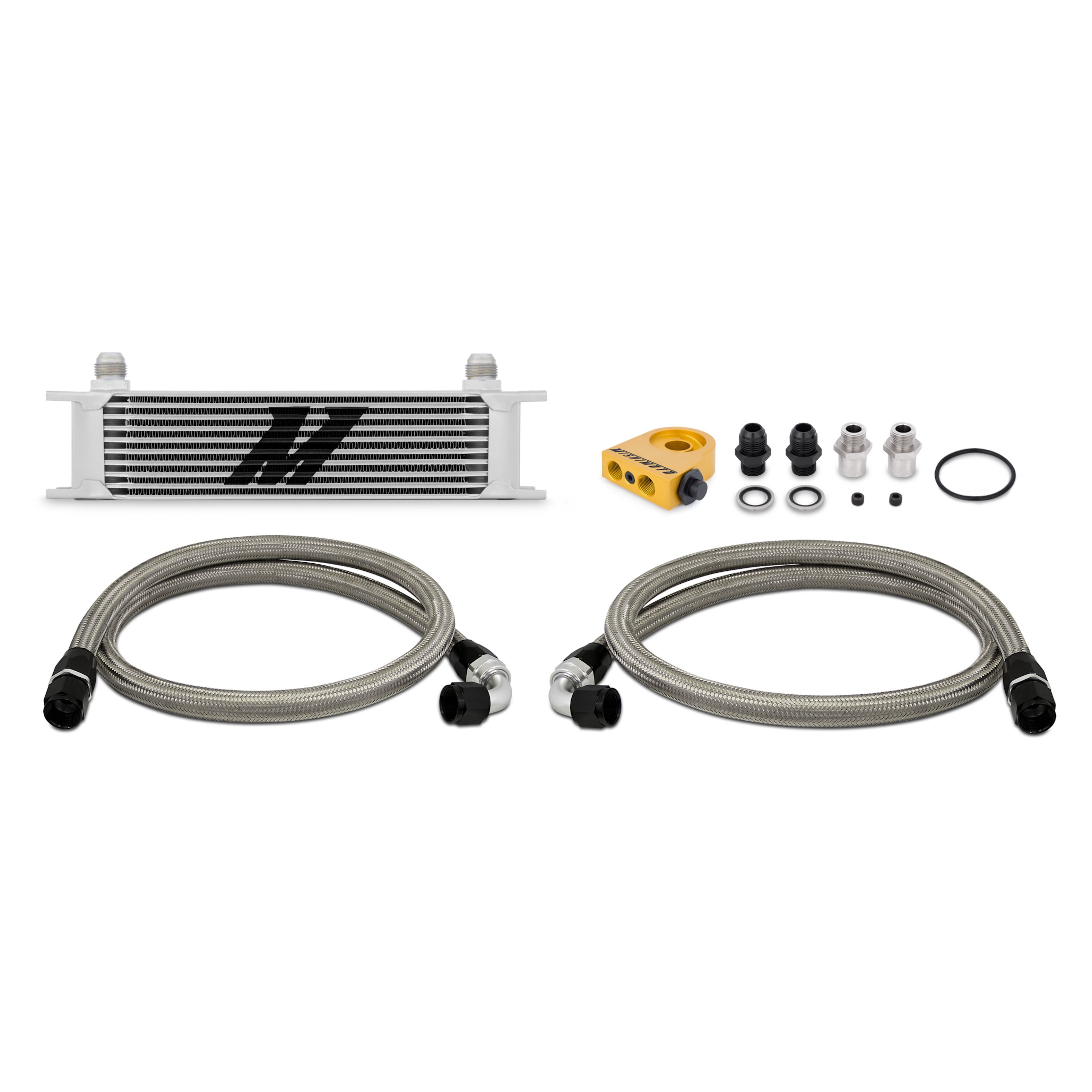 Mishimoto Silver Thermostatic Universal 10 Row Oil Cooler