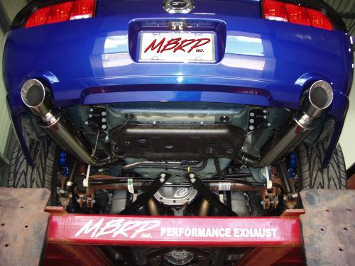 mbrp pro series axle back exhaust w mufflers for 2005 2010 ford mustang gt 4 6l 2007 2010 gt500 5 4l s7200304