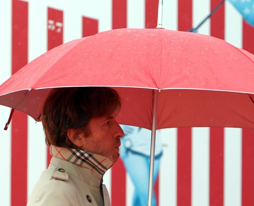 Nicolas Godin sur le tapis rouge du 37e film américain de Deauville, le 6 septembre 2011