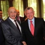 فخامة رئيس مجلس النواب يبحث مع ملك الأردن سبل التعاون المشترك بين البلدين.
