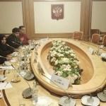 إجتماع عدد من السادة النواب بمقر الدوما ضمن زيارتهم الرسمية للعاصمة موسكو