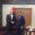 النائب الأول فوزي النويري مع سفير جمهورية ايطاليا
