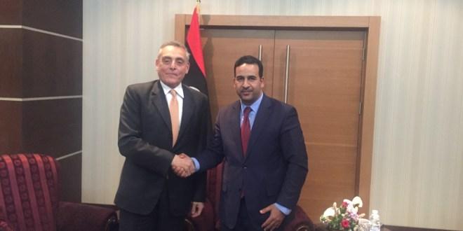 معالي النائب الأول يلتقي السفير الإيطالي بالعاصمة طرابلس