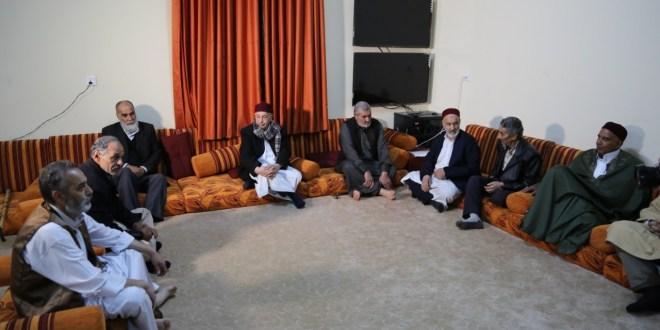 فخامة رئيس مجلس النواب يلتقي وفداً من أعيان وحكماء مدينة درنة