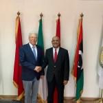 النائب الهادي الصغير مع الأمين العام لاتحاد المغرب العربي