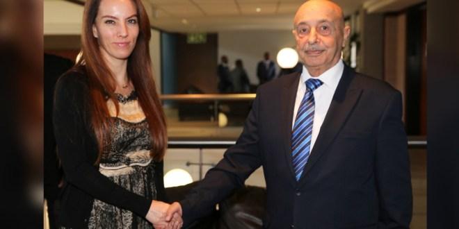 فخامة رئيس مجلس النواب يلتقي رئيسة الإتحاد البرلماني الدولي