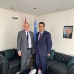 النائب الأول فوزي النويري ومبعوث الأمم المتحدة غسان سلامة