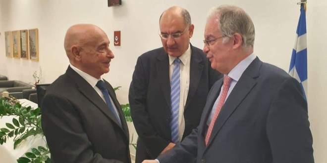 فخامة رئيس مجلس النواب يلتقي نظيره اليوناني بالعاصمة اليونانية أثينا