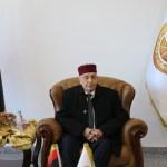 إستقبال رئيس مجلس النواب بمطار الابرق