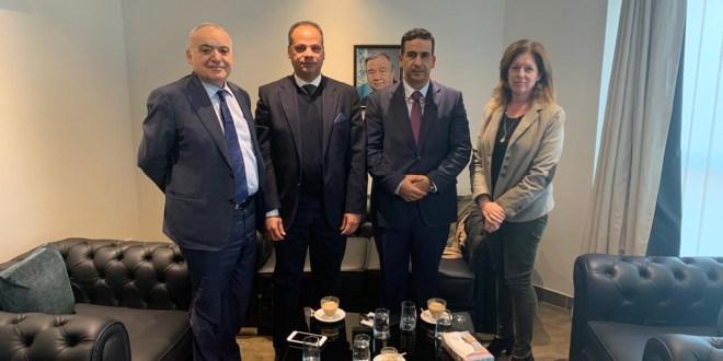 أعضاء هيئة رئاسة مجلس النواب يلتقون المبعوث الأممي لدى ليبيا
