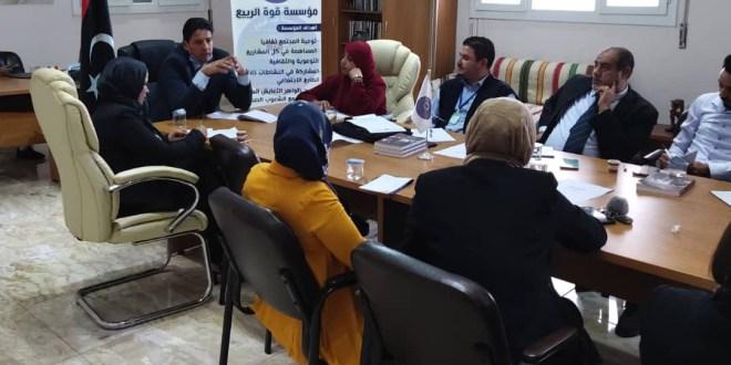 رئيس لجنة الخارجية يعقد اجتماعا  تشاوريا مع ممثلين لمؤسسات المجتمع المدني