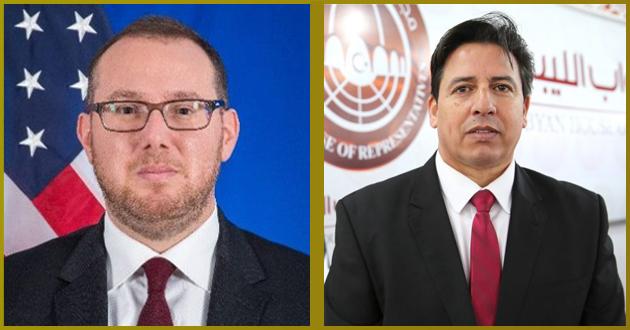 رئيس لجنة الخارجية يتلقى اتصالاً هاتفياً من نائب السفير الأمريكي لدى ليبيا