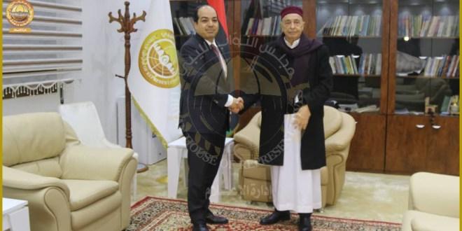 فخامة رئيس مجلس النواب يلتقي رئيس المجلس الرئاسي المُكلف أحمد امعيتيق بالقبة