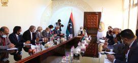 معالي رئيس ديوان مجلس النواب يجتمع بمدراء الإدارات ويتفقد مقر المجلس ببنغازي
